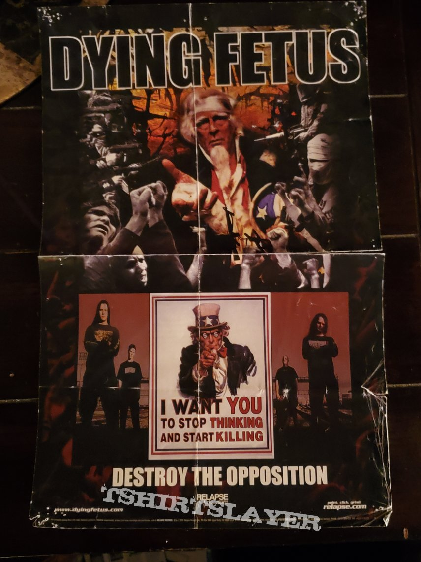 Skinless - Foreshadowing our Demise & Dying Fetus - Destroy the Oppositionmini poster