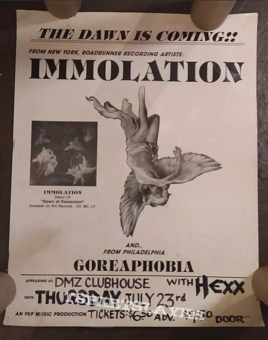 Immolation Tour Poster