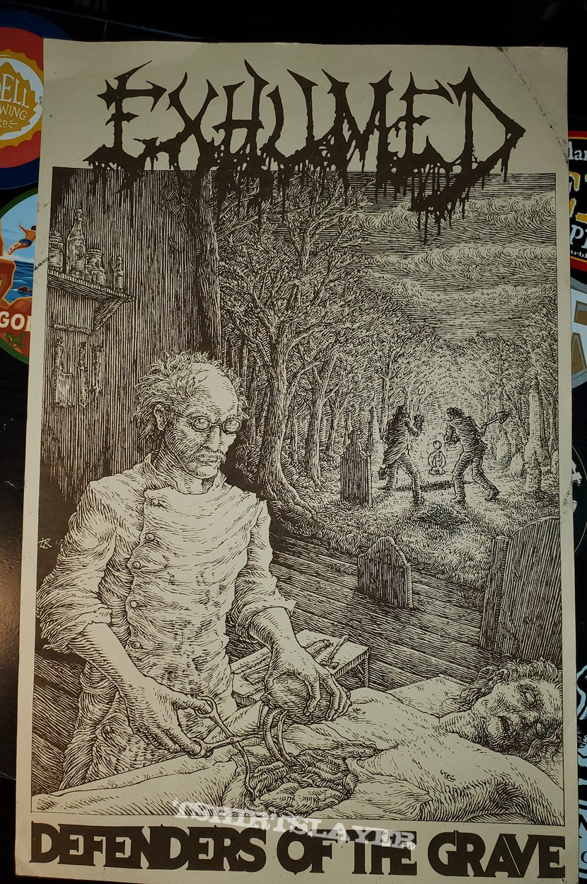 Exhumed - Defenders of the Grave mini poster