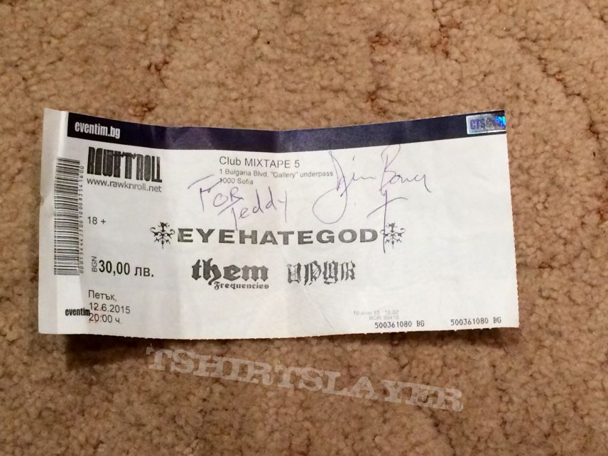 Eyehategod signed ticket