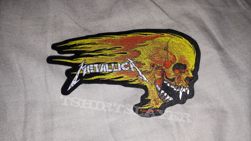 Metallica shaped patch