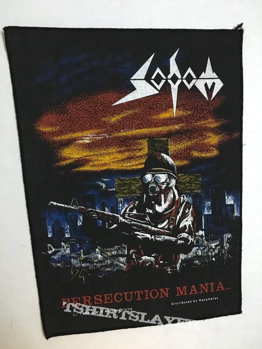 Sodom Persecution Mania 1990 backpatch