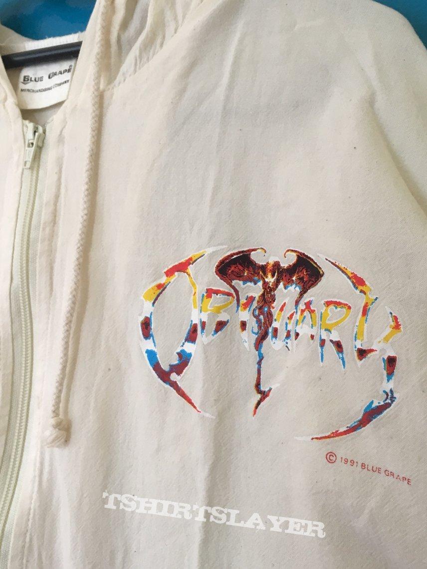 Obituary zipper hoodie blue grape 1991