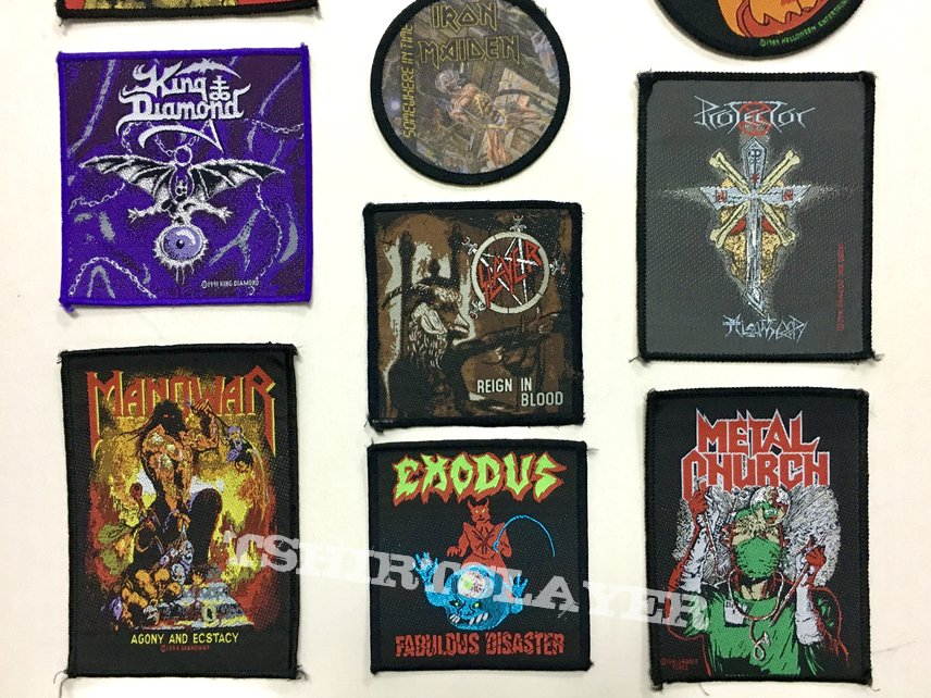 Slayer Morgoth Manowar Exodus King Diamond Type O Negative patches