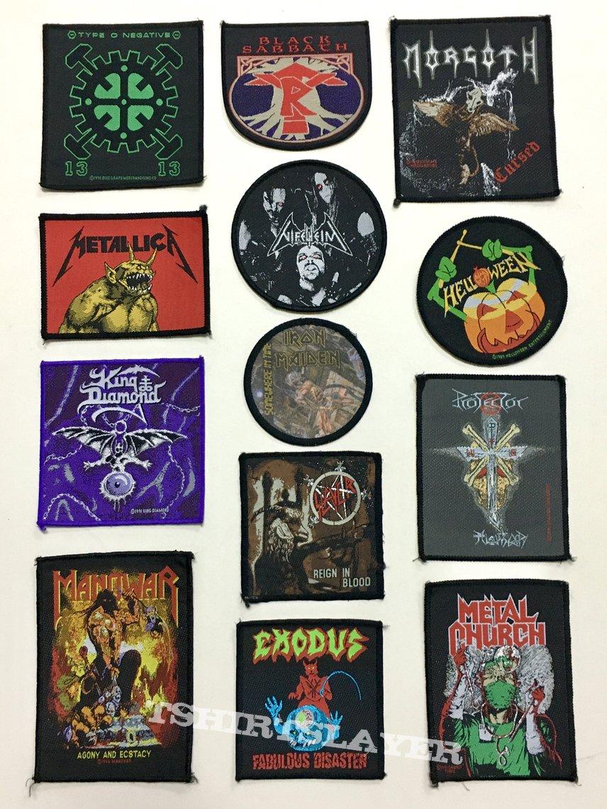 Slayer Morgoth Manowar Exodus King Diamond Type O Negative patches