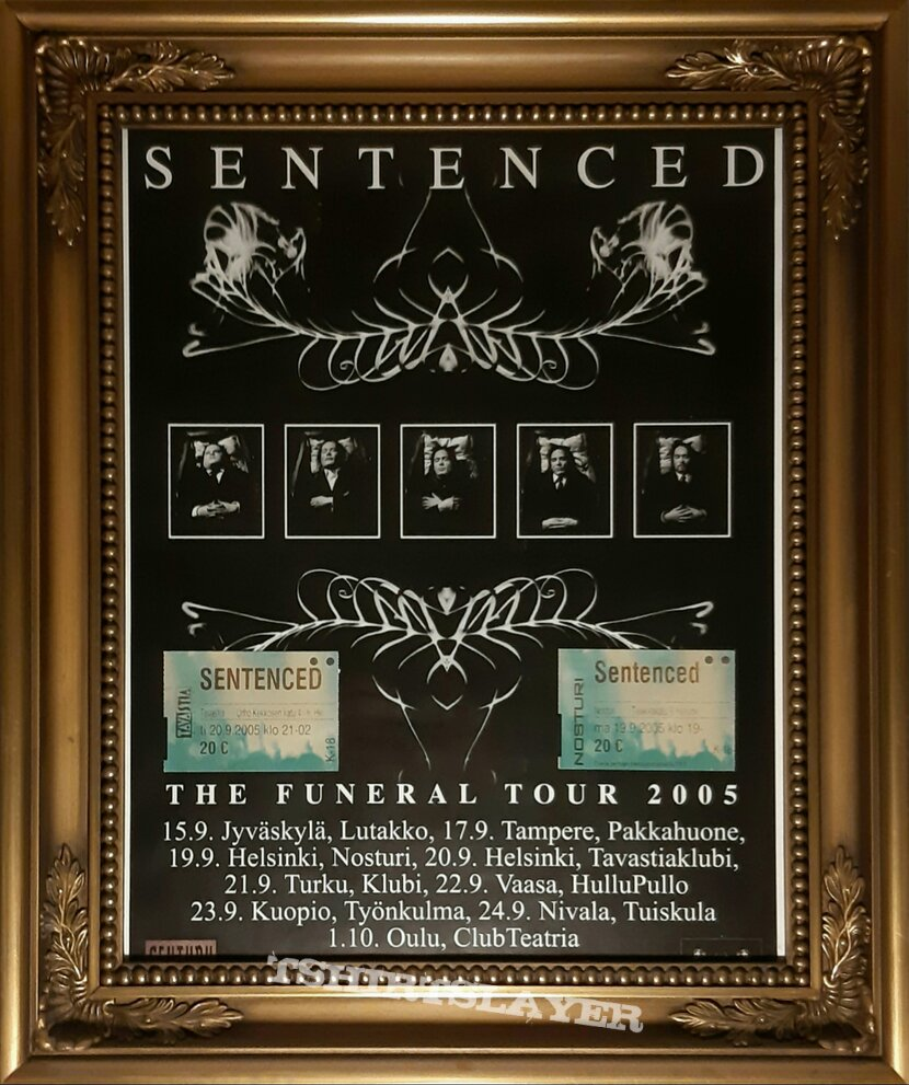 Sentenced - The funeral tour 2005, Finland, gigposter.