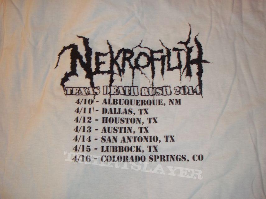 Nekrofilth - Texas Death Rush white (tour) shirt.