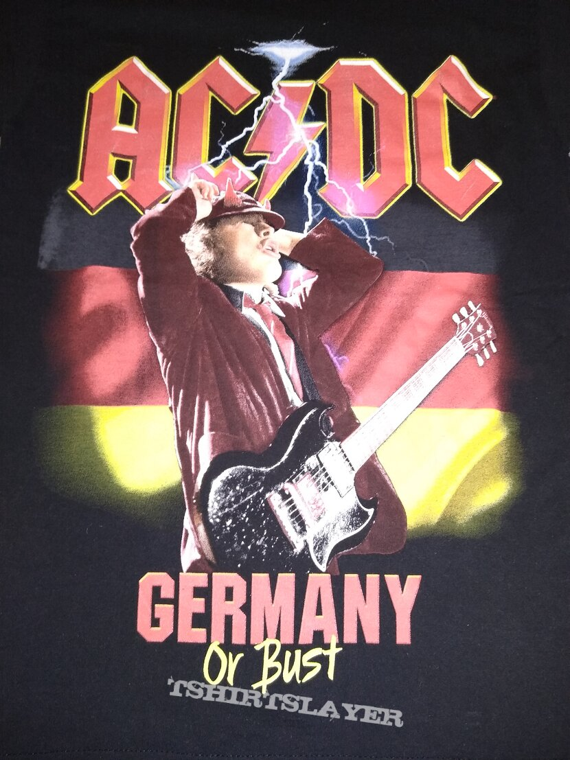 AC/DC Germany Tour 2016 T-Shirt size - S OFFICIAL STORE