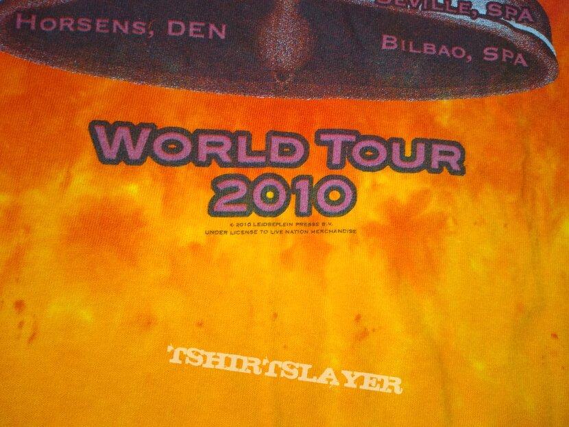 AC/DC 2010 Black Ice World Tour Licensed Tie Dye T-Shirt size - L