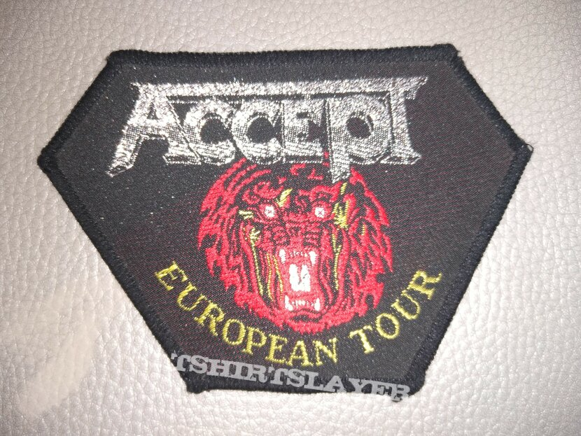 Accept -  European Tour  -  woven patch