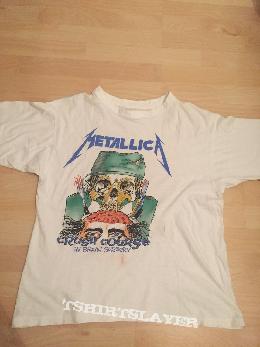 Metallica crash course in brain surgery shirt