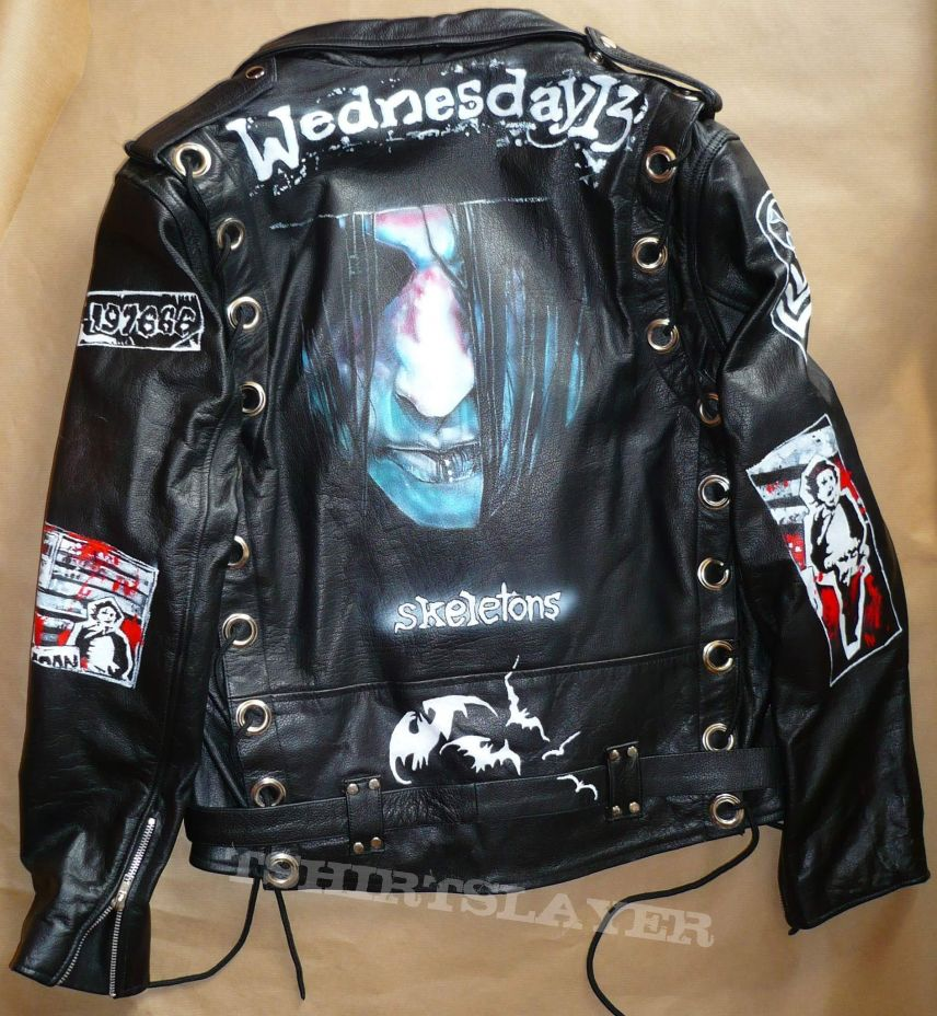 Iron Maiden and other bands painted jackets