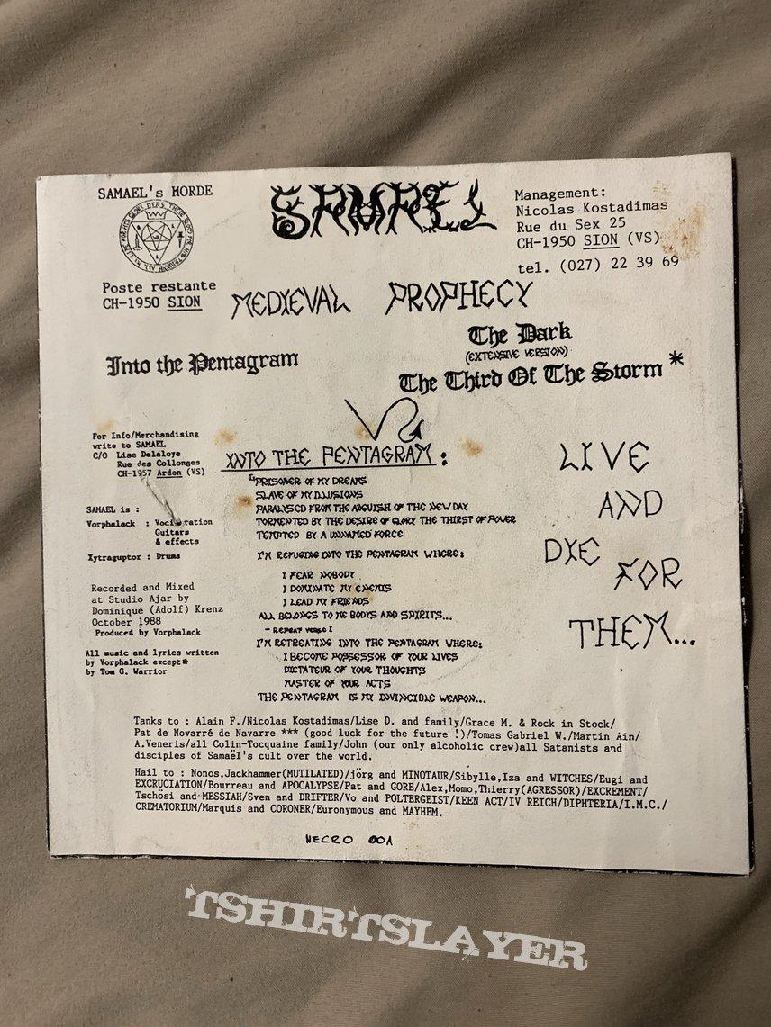 "Samael Medieval Prophecy 7"" 1st press"