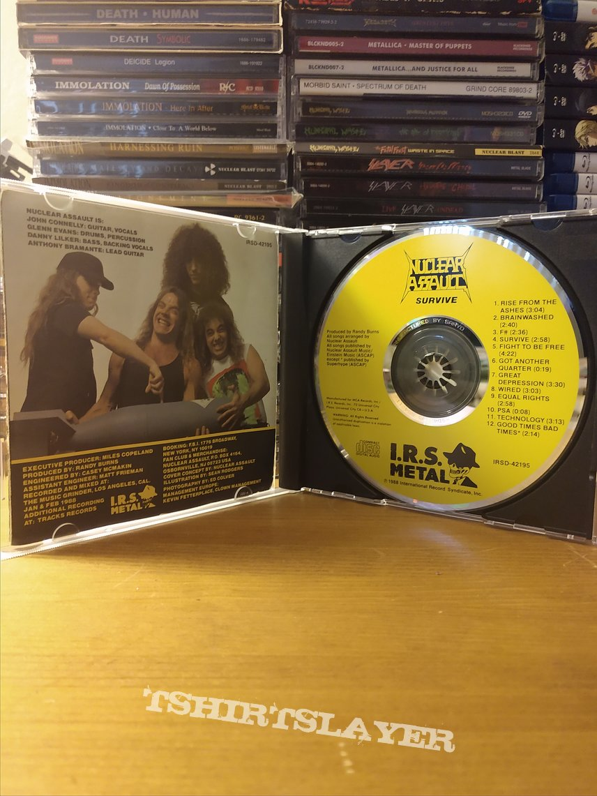 Nuclear Assault: Survive CD (SIGNED)