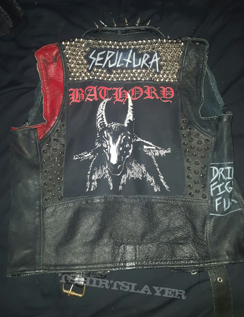 Leather Battle Vest!! FUCKIN SICK!!