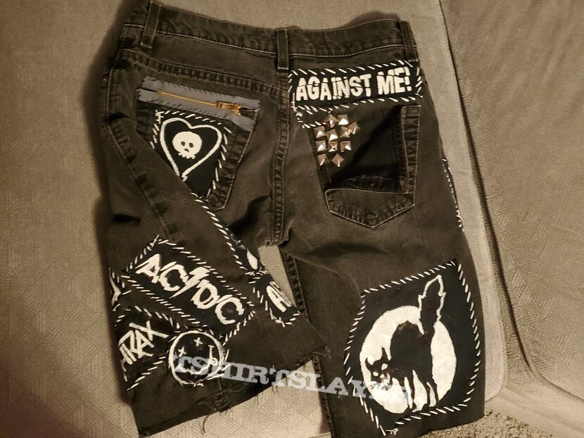 My shorts. All patches DIY.