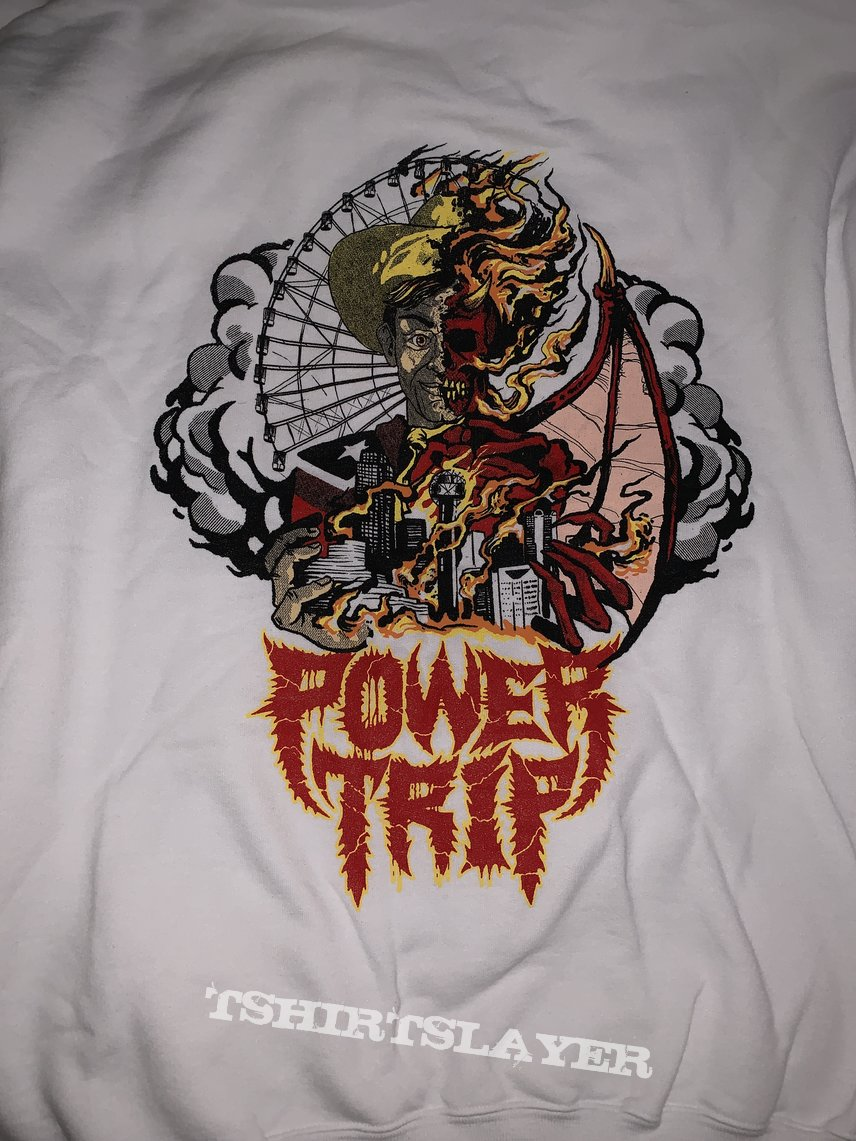 Power Trip: *exclusive* one-night only Evil Beat Vol II white hoodie