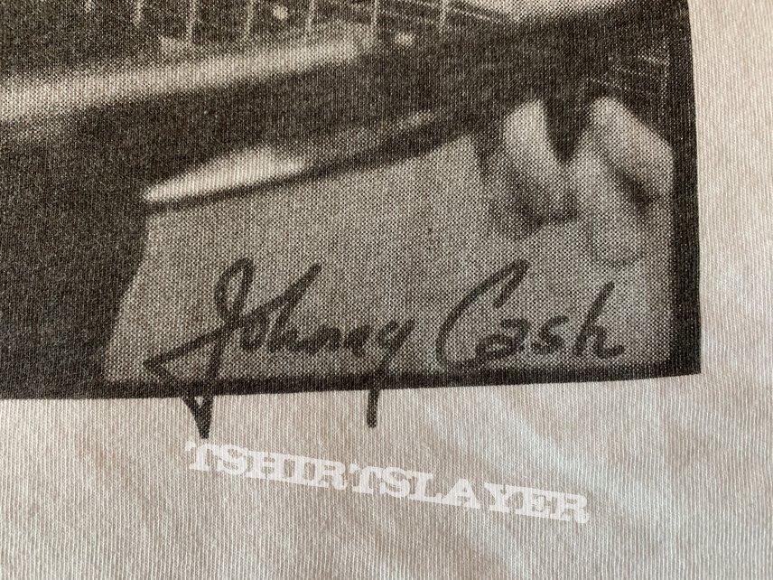 """Johnny Cash - """"Autograph"""" Shirt / Size: L"""