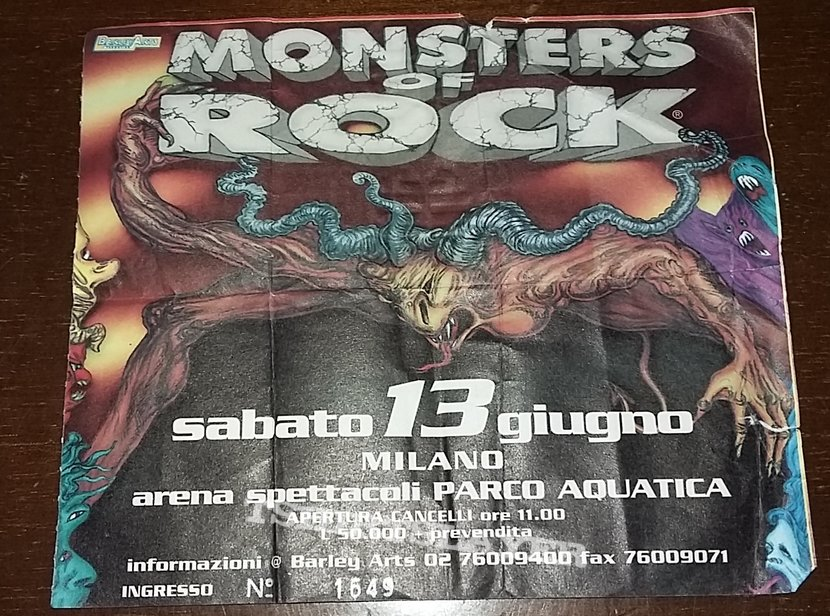Monsters Of Rock Festival 1998 - Turin/Italy