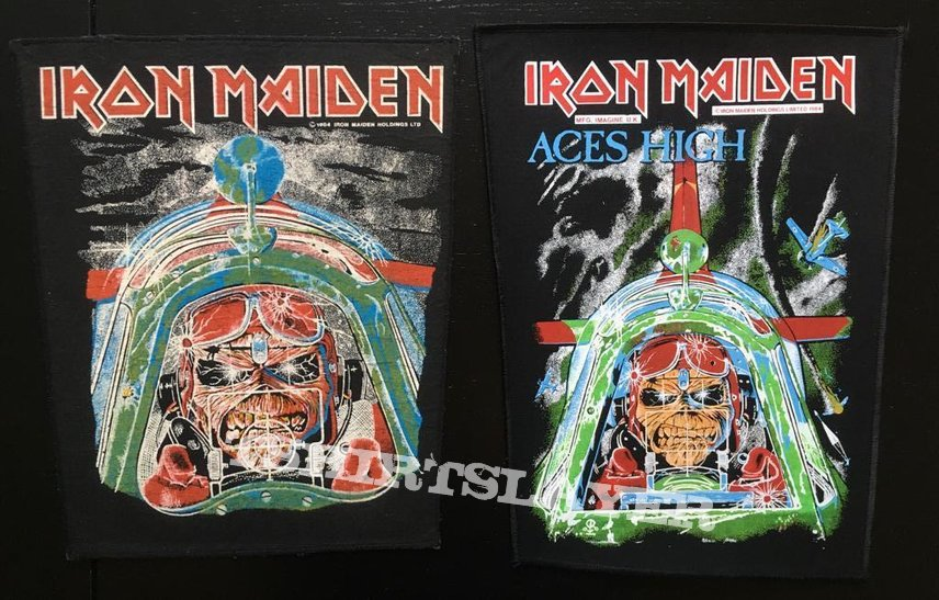 Iron Maiden - Aces High - Transfer on Back Patch 1984