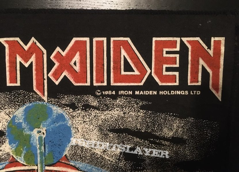 Iron Maiden - Aces High - Back Patch 1984 (Green Version)