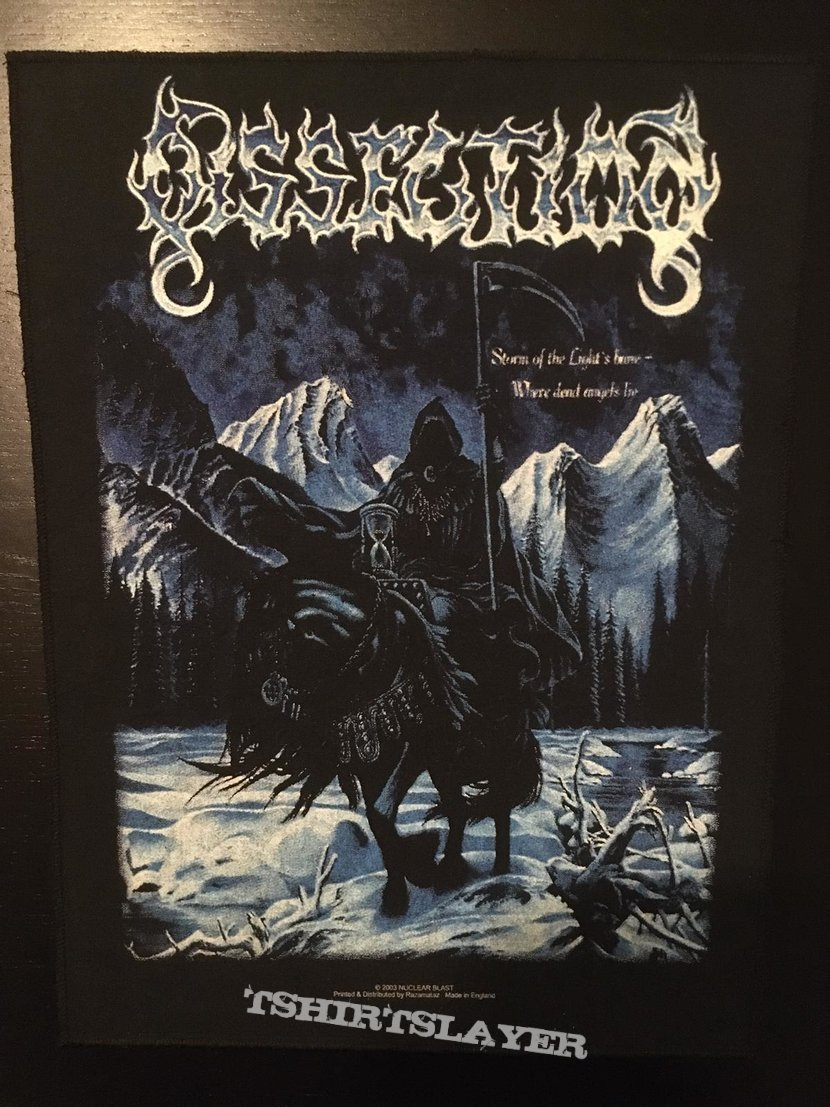 Dissection - Storm of the Light's Bane - Vintage Back Patch 2003