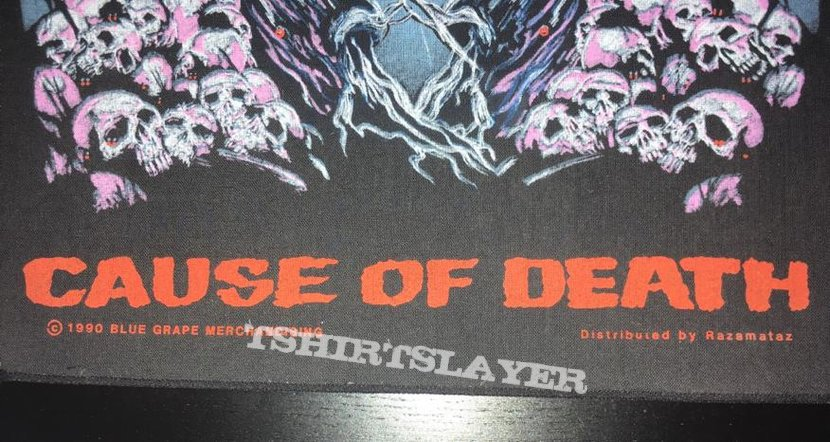 Obituary - Cause of Death - Back Patch 1990