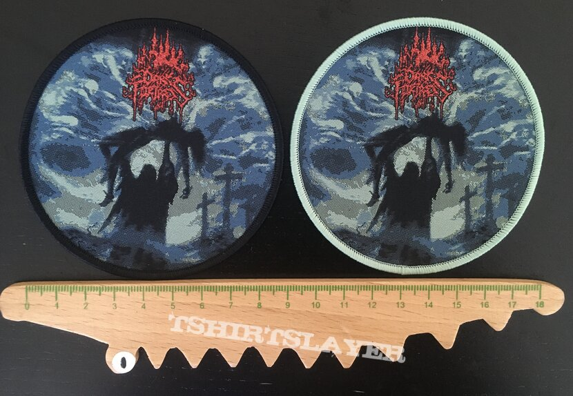Dark Fortress - Profane Genocidal Creations patches (Red glitter logo)