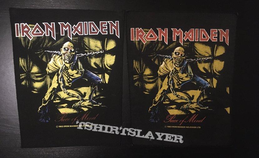 Iron Maiden - Piece of Mind - Back Patch 1983 (Version 1 - Ocher)