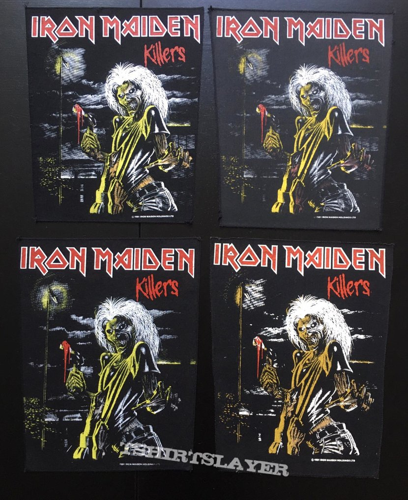 Iron Maiden - Killers - Back Patch 1981 (Version 7 - Foggy Light nr.4)