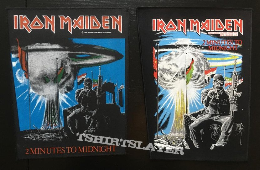 Iron Maiden - 2 Minutes to Midnight - Transfer on Back Patch 1985
