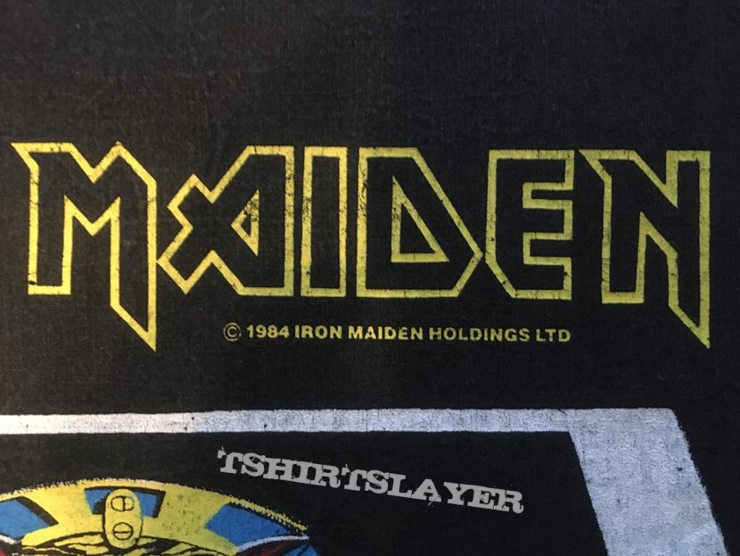 Iron Maiden - Powerslave - Back Patch 1984 (White Coffin)