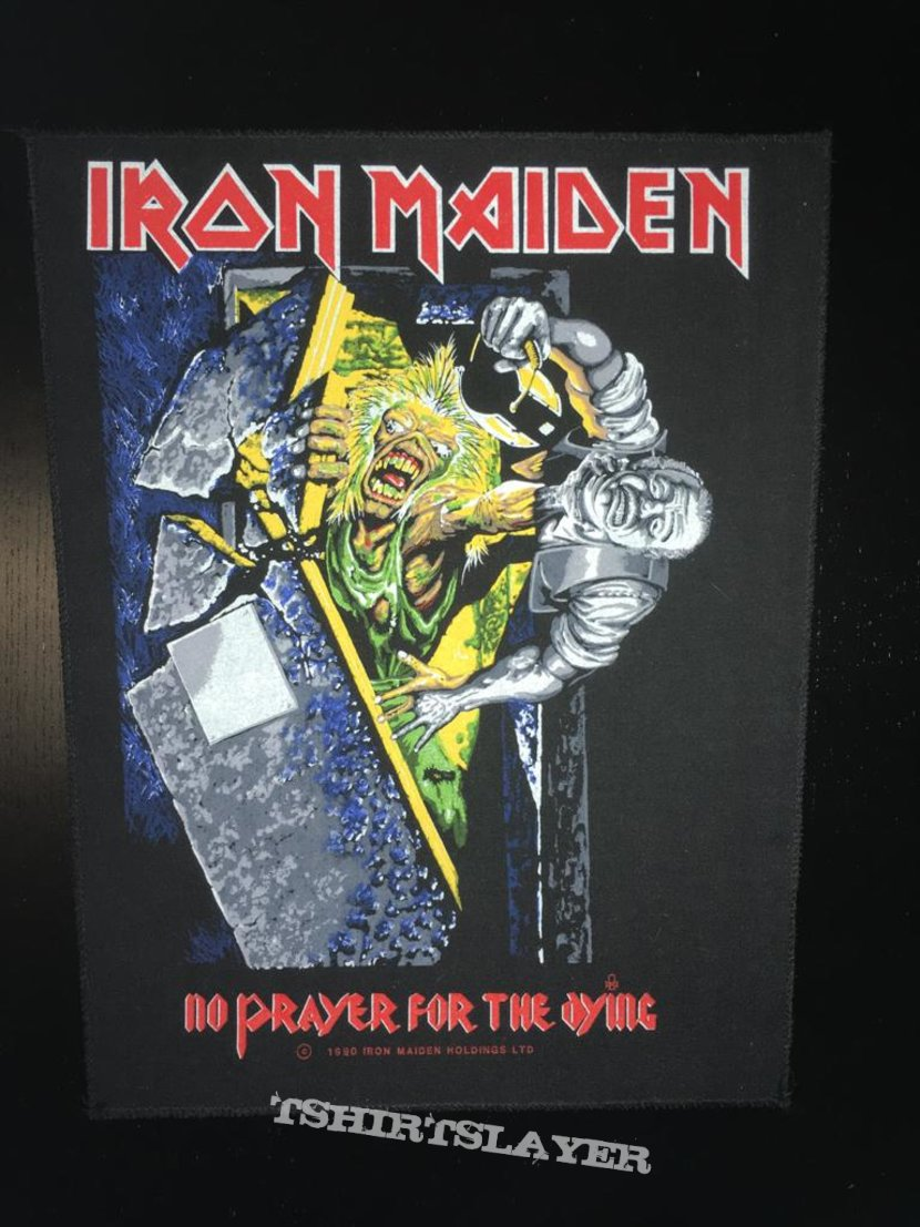 Iron Maiden - No Prayer for the Dying - Back Patch 1990 (Blue version)