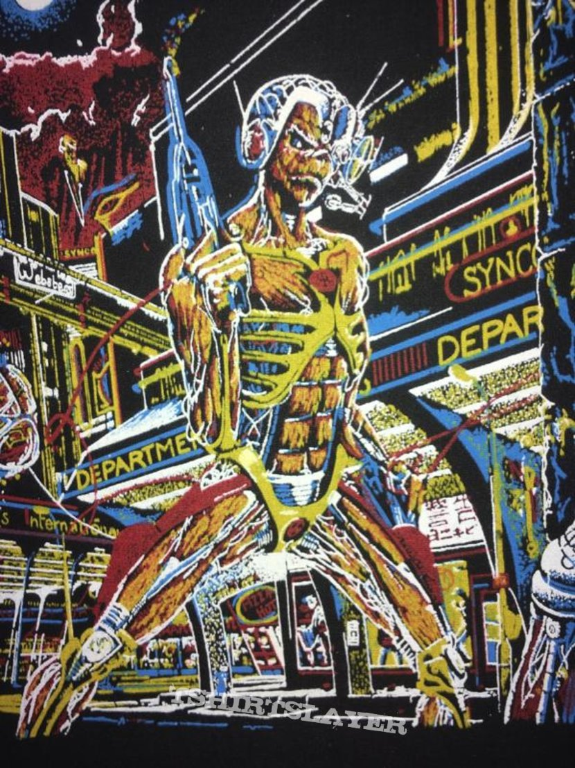 Iron Maiden - Somewhere in Time - Back Patch 1986 ('orange version')