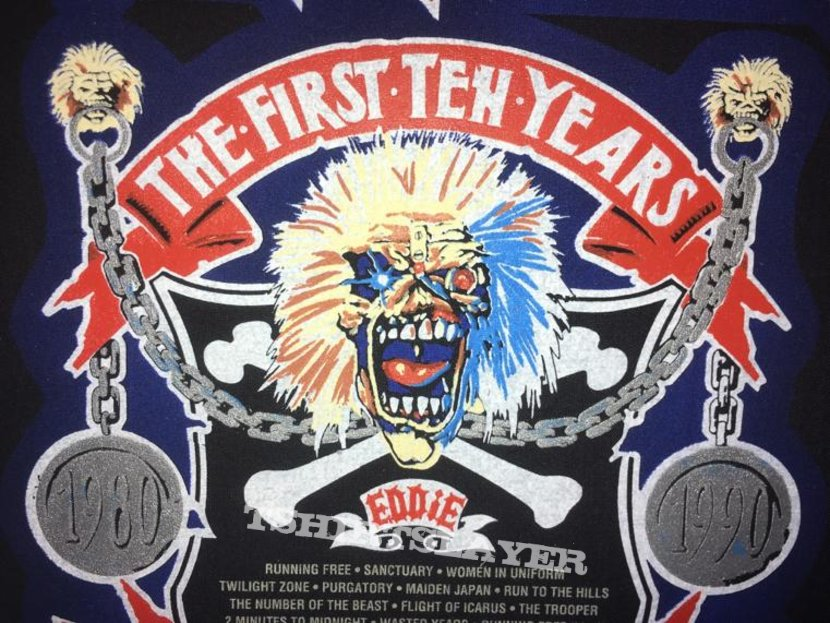Iron Maiden - First 10 Years - Back Patch 1990