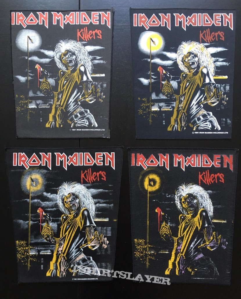 Iron Maiden - Killers - Back Patch 1981 (Version 6 - Bright Light nr.3)