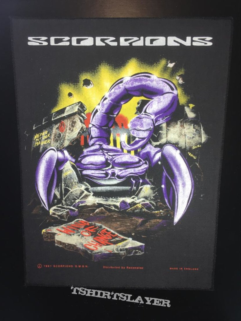 Scorpions - Wind of Change - Back Patch 1991