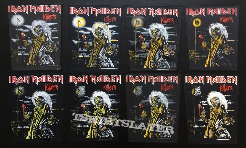 Iron Maiden - Killers - Back Patch 1981 (Version 5 - Foggy Light nr.3)
