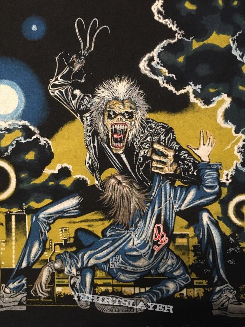 Iron Maiden - No Prayer on the Road/Hooks in You - non-licensed Back Patch (on jacket)
