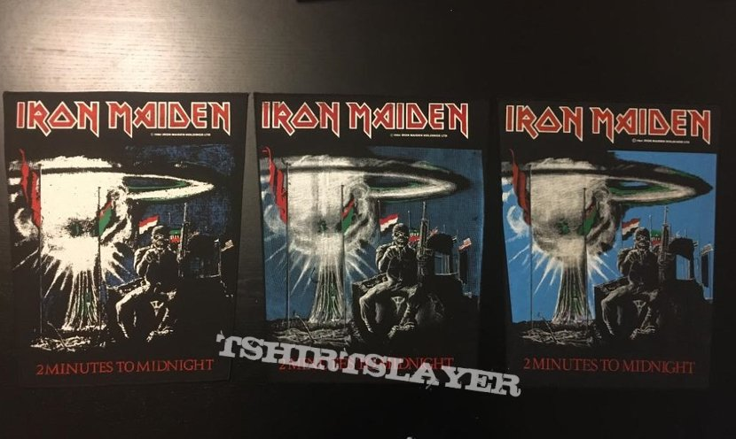 Iron Maiden - 2 Minutes to Midnight - Back Patch 1984 (Light Blue Version)