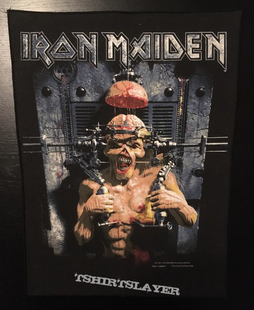 Iron Maiden - X-factor - Back Patch 1995 (version 2)