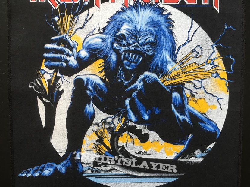 Iron Maiden - A Real Live One - Back Patch 1993 (White Version)