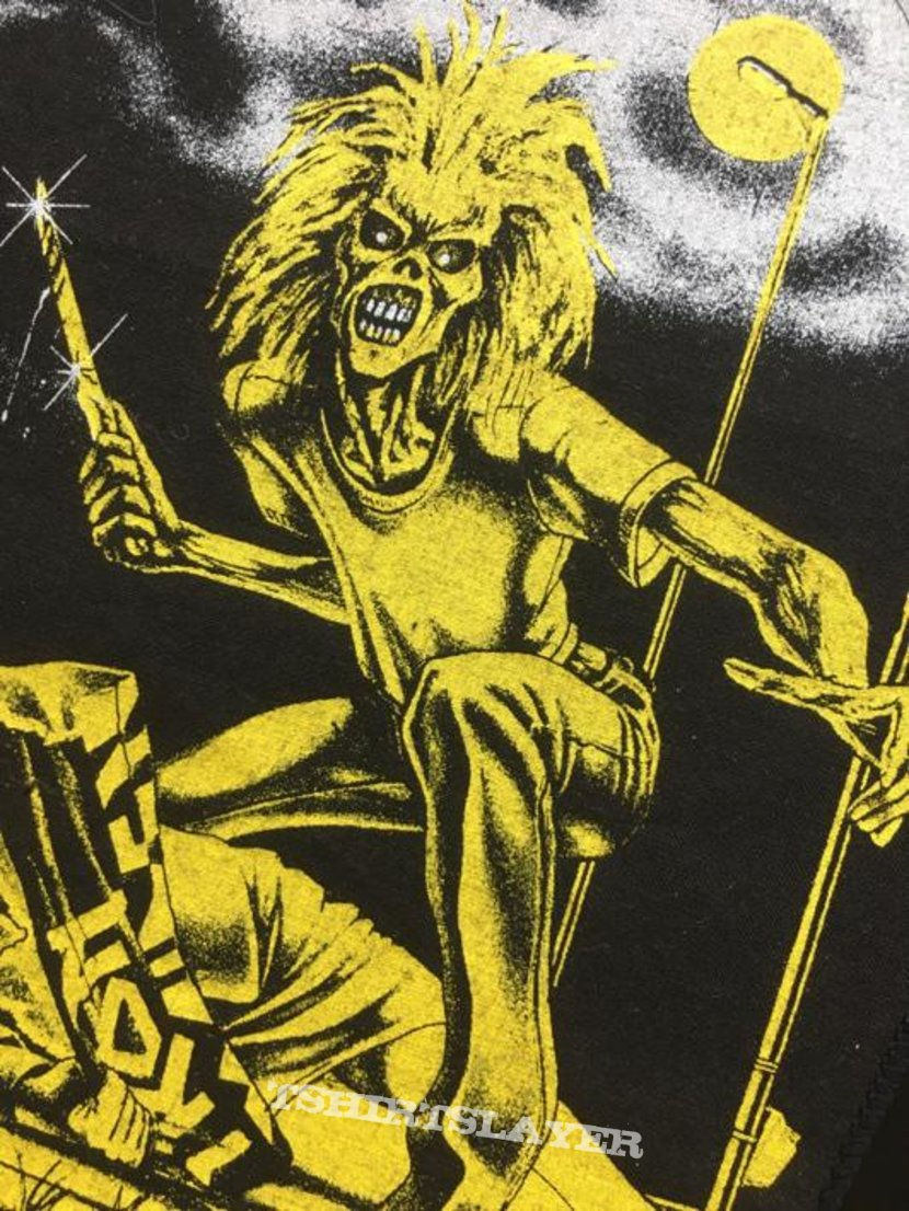 Iron Maiden - Sanctuary - Back Patch (Long - Yellow - version)