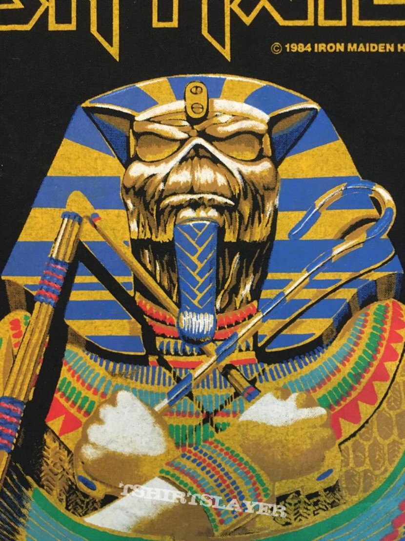 Iron Maiden - Powerslave - Back Patch 1984 (Sarcophagus version - SINGED by Nicko! - On Vest)
