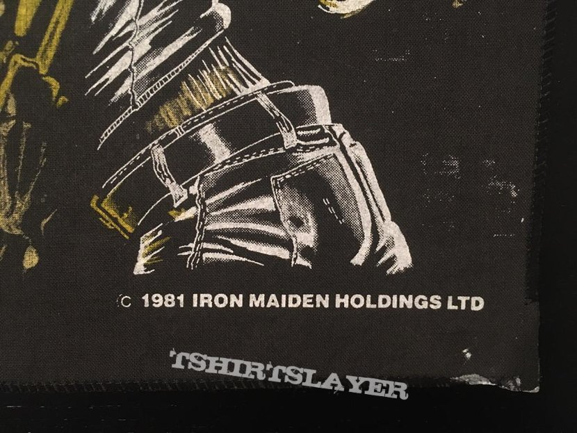 Iron Maiden - Killers - Back Patch 1981 (Version 4 - Bright Light nr.2)