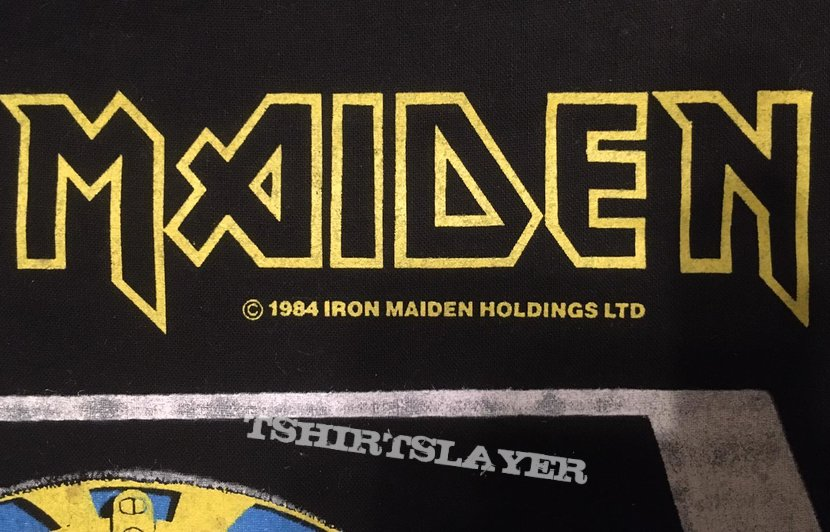 Iron Maiden - Powerslave - Back Patch 1984 (White Coffin - Yellow version)