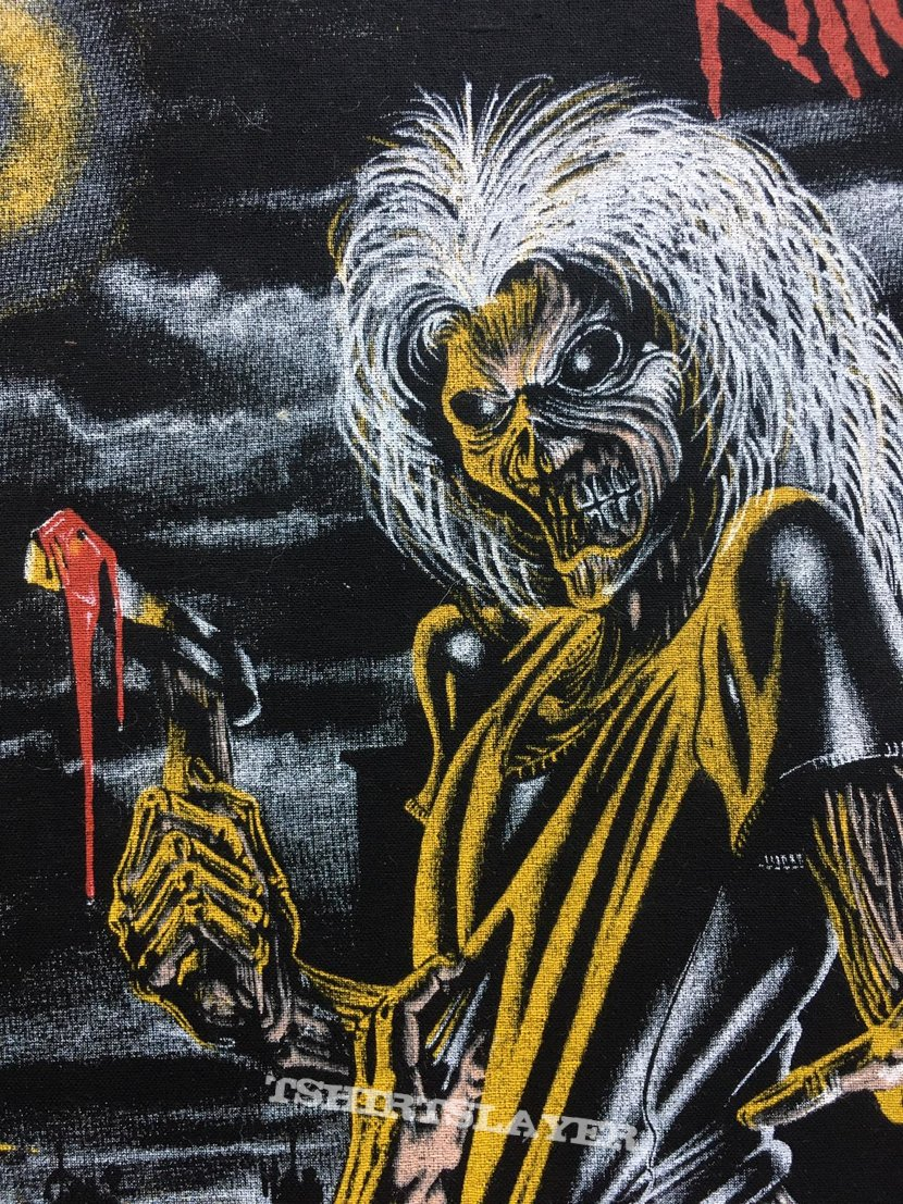 Iron Maiden - Killers - Back Patch 1981 (Version 8 - Bright Light nr.4)