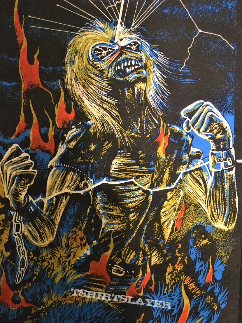 Iron Maiden - Live after Death - Back Patch 1985 (Yellow Version - Upper Copyright)