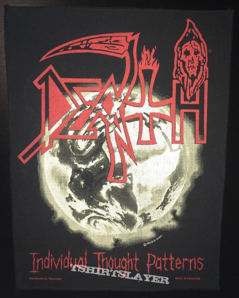 Death - Individual Thought Patterns - Back Patch 1993 (Earth Version)