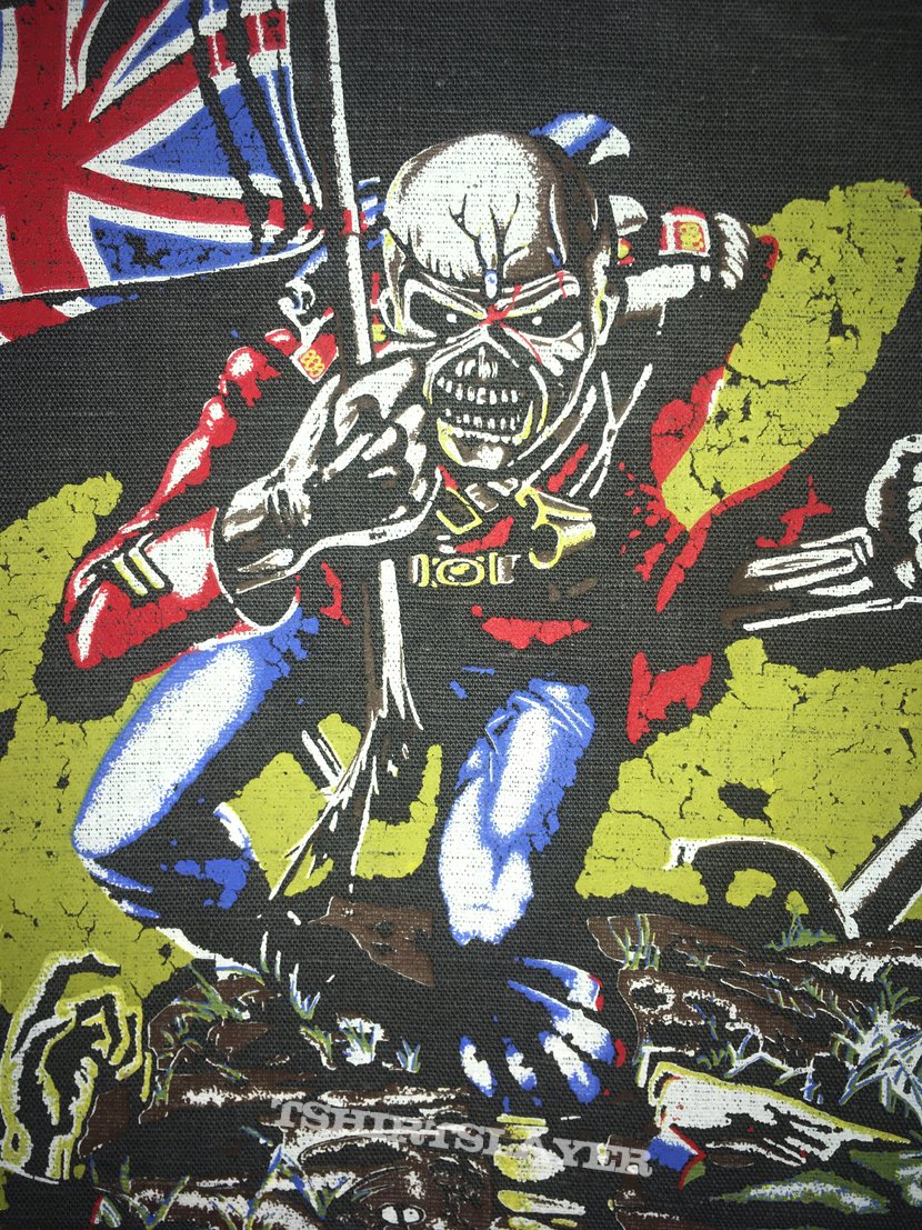 Iron Maiden - The Trooper - Transfer on Back Patch 1984